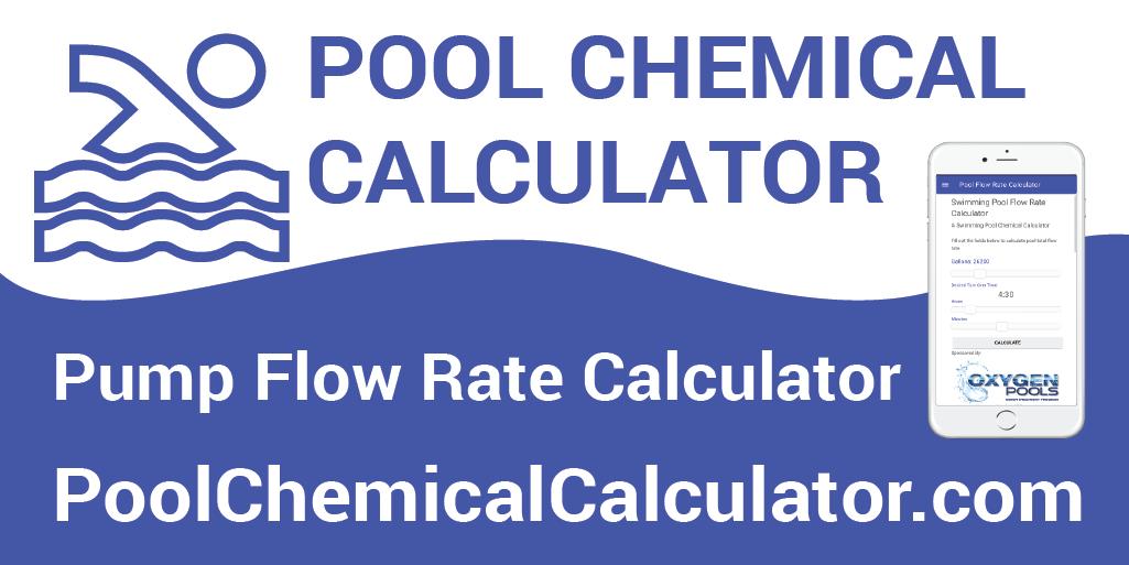 Pool Flow Rate Calculator