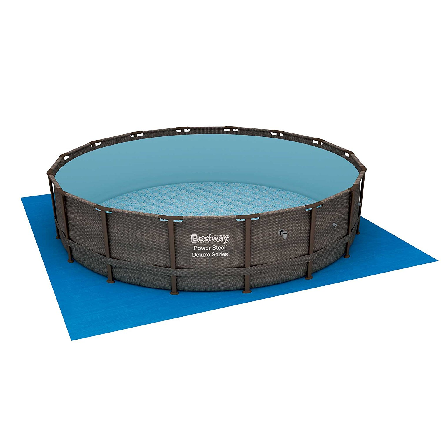 Bestway 14 39 X 42 Power Steel Frame Above Ground Swimming Pool Set With Pump Pool Chemical