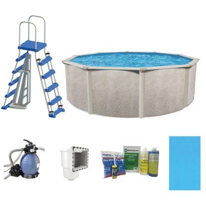 "Cornelius Pools Phoenix 24' x 52"" Frame Above Ground Pool Kit with Pump & Ladder"