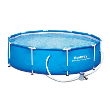 "Bestway 12' x 36"" Steel Pro Frame Above Ground Family Swimming Pool Set w/ Pump"