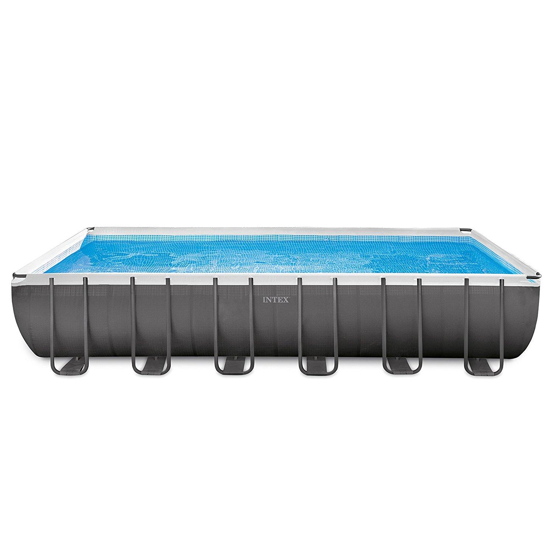 Intex 24ft X 12ft X 52in Ultra Frame Rectangular Pool Set