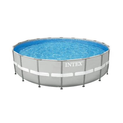 "Intex 24' x 52"" Steel Ultra Frame Round Above Ground Swimming Pool Set with Pump"
